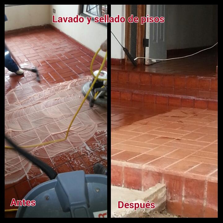 Eliminaci n de ceras y sellado de pisos de adoquines for Aplicar cera de concreto sobre baldosas